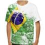 Camiseta Brasil Front Grunge Infantil