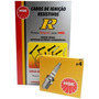 Kit Cabos + Velas Ngk Ford Pampa 1.8 Gasolina 1992