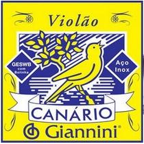 Jogo De Cordas Para Violão De Aço Giannini Canario