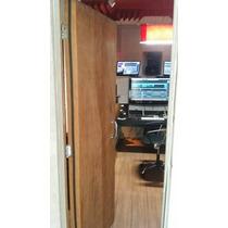 Porta Ácústica De Madeira 40db - Estúdio / Sala De Reuniões