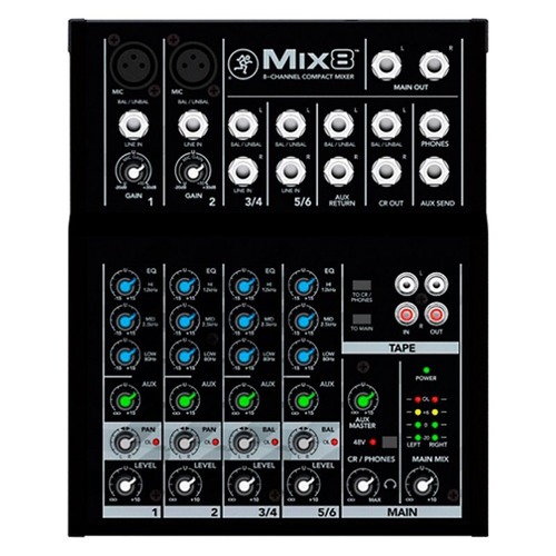 Mixer Ultracompacto Mackie Mix8 Com 8 Canais De Entrada E Eq