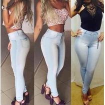 Calça Jeans Cintura Alta Hot Pants Levanta Bumbum Frete Free