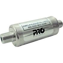 Amplificador De Linha Proeletronic Satélite 20db Pqal-2010