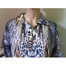 Camisa Seiki Cetim Tigresa Of: Liberdade - 620716
