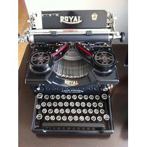 Máquina De Escrever Royal 1910 Restaurada