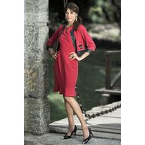 Conjunto Moda Evangélica Vestido E Casaco 38ao46 - Pura Flor