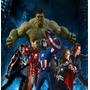 Papel De Parede Vingadores Hulk Herois Marvel Spiderman 5m²