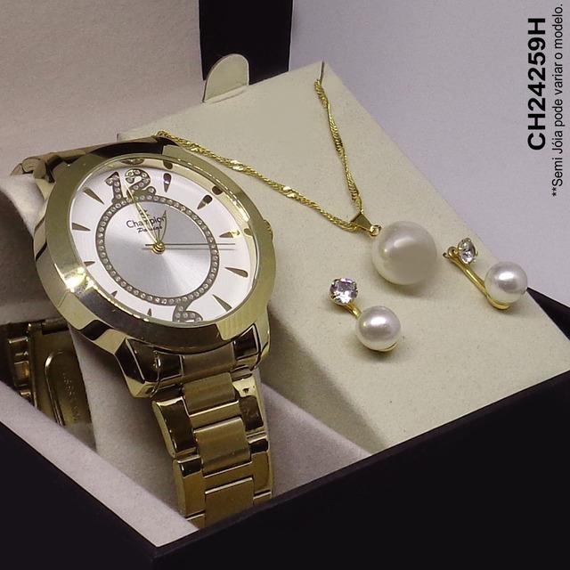 2c0a8b3fa6 Relógio Champion Feminino Passion Ch24259h + Kit Brinde Vip em Belo ...