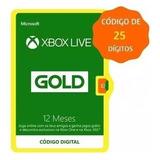 Xbox Live Gold 12 Meses Código 25 Dígitos