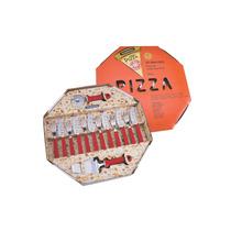 Kit Para Pizza Em Inox 14 Peças Vermelha - Tramontina
