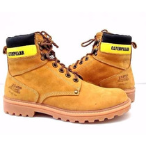 Bota Coturno Caterpillar Couro Masculino Cat Steel Toe Top!!
