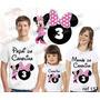 Lembrança De Aniversário Minnie Rosa Camiseta 3 Un
