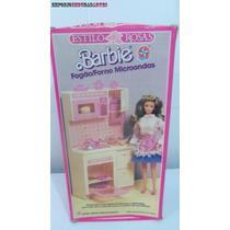 Barbie Fogão Forno Microondas Estrela Caixa E Manual