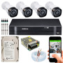 Kit Cftv 4 Câmeras Multi Hd 720p 1mp Dvr Intelbras Mhdx 1104