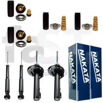 4 Amortecedores Nakata + Kits Vw Polo Hatch 2002/2012