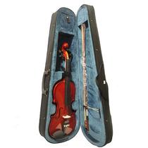 Violino 4/4 Guarneri Completo Com Case Luxo Arco E Breu