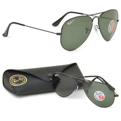 Óculos Sol Ray Ban Rb3025 Aviador Preto Polarizado 58 M 821e7423ca