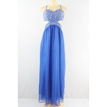 Decode 1.8 Adornadas Recorte Vestido Azul Royal