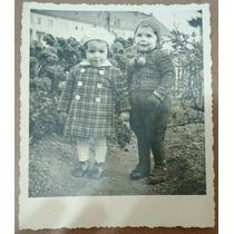 Foto Postal Antiga - 2 Crianças