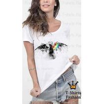 Camiseta T- Shirt Pink Floyd Rock Feminina Personalizada