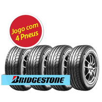 Kit 4 Pneu Aro 15 Bridgestone 195/55r15 Potenza Giii 85v
