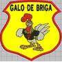 Patch Tag Bordado Galo De Briga 11,5x11,5