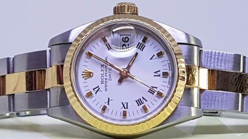 ac585eca03d Rolex Feminino Aço E Ouro - Uma Jóia - 26 Mm.
