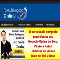 Curso Fórmula Negocio Online 100% Completo E Original!!!