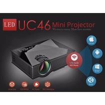 Mini Projetor Portatil Led 130 Pol Uc46 Wifi Data Show Filme