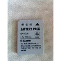 Bateria Camera Digital Nikon En-el8 3.7 V / 730 Mah
