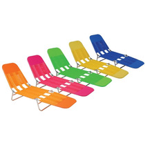 Cadeira Espreguiçadeira Adult Vinil Praia Piscina Dobrável