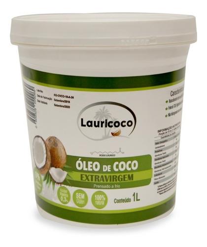 Óleo De Coco 100% Extra Virgem 1 Pote X 1 Litro