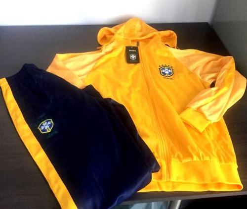 6c56b0570c Agasalho Brasil Conjunto Blusa Calça Seleção Brasileira