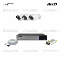 Kits De Monitoramento Ahd Luxvision 3 Câmeras Infra Ahd P2p