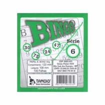 Bloco P/ Bingo Verde 100 Folhas Emb 15 Unid Tamoio