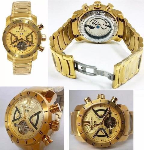 969ecd96c2a Relógio Iron Man Automático Dourado Frete Grátis! - R  748 en ...
