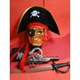 Piratas Do Caribe Fantasia Jack Sparrow Armas Chapeu Espada