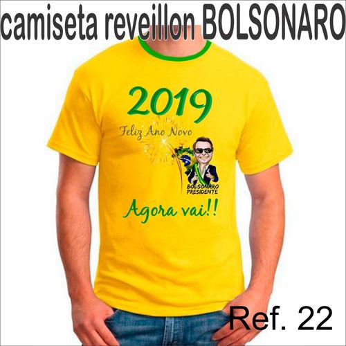 Camisa Camiseta Reveillon Jair Bolsonaro Amarela 2019 Adulto. R  37.98 4235a8fce7f1a