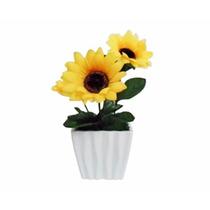 Vaso Com Flor Girassol Artificial A:18xl:10cm