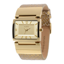 Relógio Feminino Euro Premium Eu2035lxu/2d - Dourado / Pu...