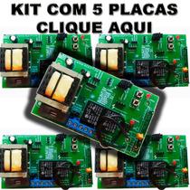 Kit 5 Central Placa Portão Eletrônico Ppa Garen Rossi Univer