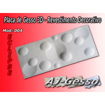 Placa De Gesso 3d Eclipse /revestimento Decorativo