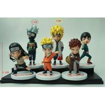 Bonecos Naruto Kit Com 6 Gaara Lee Kakashi Neiji Minato