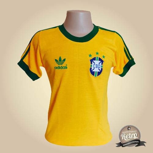 Camisa Retrô Brasil Seleção Brasileira 1978 - 100% Algodão ! - R ... 8121cf6728868