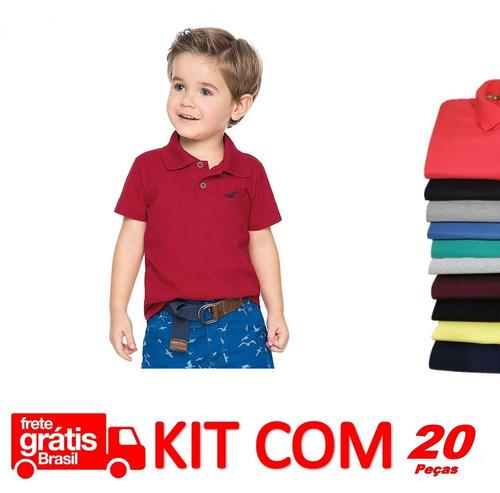 e2e4bd144c Camisas Polo Kids Infantil 20 Peças Atacado Revenda Promoção