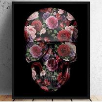 Quadro Art Impressa Caveira Skull Mexicana Photo Matte 40x60