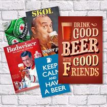 Placas Decorativas Cervejas, Vintage E Anúncios Antigos