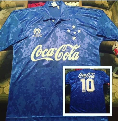 Camisa Cruzeiro Década De 90   Coca Cola Finta. R  500 fe4ee738bc7a7