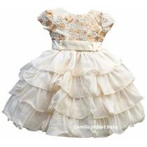 Vestido Infantil Festa Casamento Daminha Florista Com Tiara