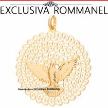Rommanel Pingente Espírito Santo Pomba Folh Ouro 18k 541526